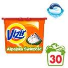 Vizir Alpine Fresh Kapsułki Do Prania Do Bieli I Kolorów 30 Sztuki