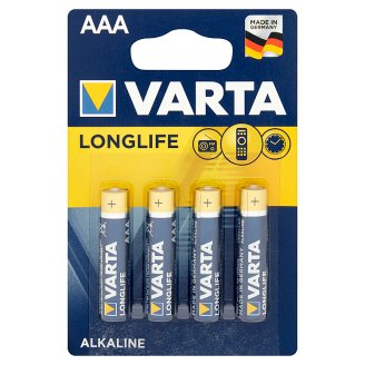 Varta Longlife AAA LR03 1.5 V Alkaline Battery 4 Pieces