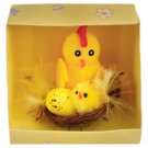 Chickens in Nest 6 cm x 7 cm x 7 cm