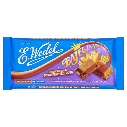 E. Wedel Bajeczny Milk Filled Chocolate with Wafers and Peanuts 100 g