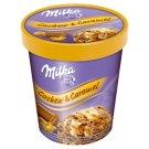 Milka Cashew & Caramel Lody czekoladowe i lody o smaku waniliowym z sosem karmelowym 480 ml