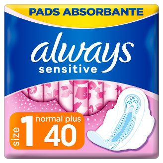 Always Sensitive Normal Ultra (Size 1) Sanitary Towels Wings 40 Pads