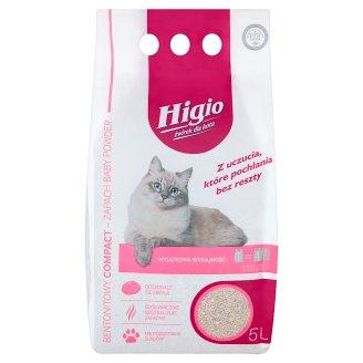 Higio Compact Żwirek dla kota bentonitowy zapach Baby Powder 5 l