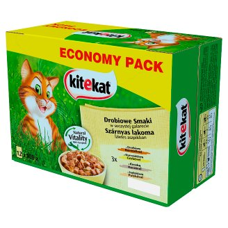 Kitekat Chicken Flavors in Juicy Jelly Complete Cat Food 1.2 kg (12 x 100 g)