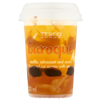 Tesco Baroque Vanilla Advocaat and Cocoa Flavoured with Sauces Ice Cream 120 g