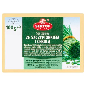 Sertop Tychy Creamy Spread Cheese with Chive and Onion 100 g