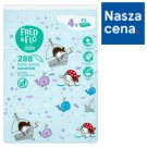 Fred & Flo Sensitive Baby Wipes 288 Pieces (4 x 72 Pieces)