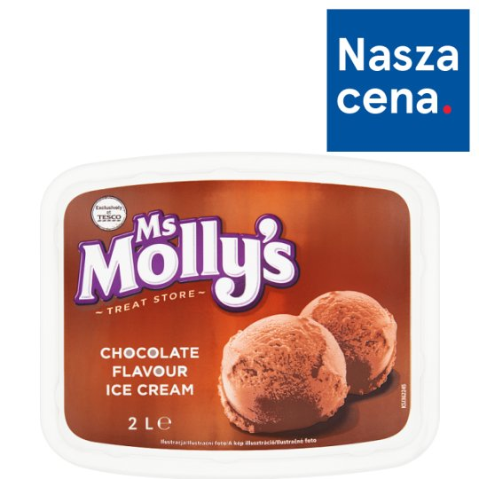 Ms Molly's Chocolate Flavour Ice Cream 2 L