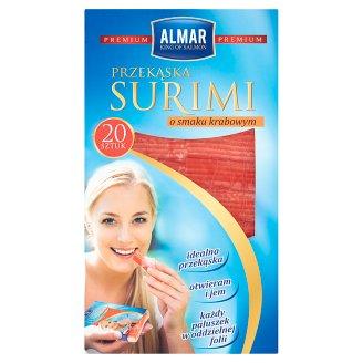 Almar Premium Przekąska surimi o smaku krabowym 200 g (20 sztuk)