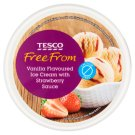 Tesco Free From Vanilla Flavoured with Strawberry Sauce Ice Cream 500 ml