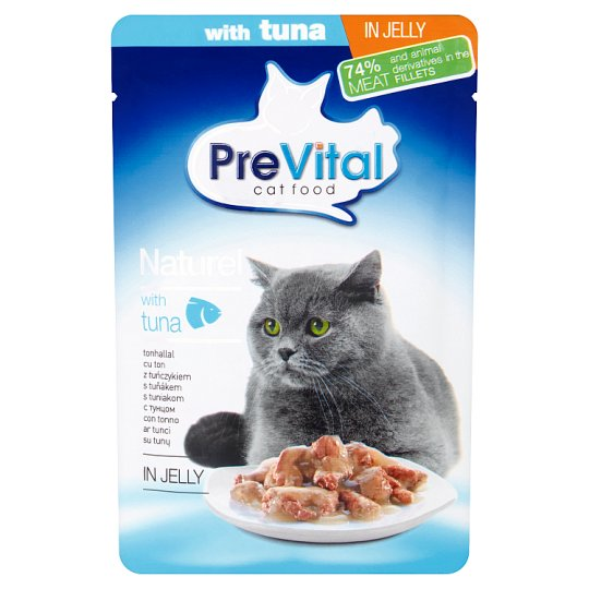 PreVital Naturel Complete Food for Adult Cats with Tuna in Jelly 85 g