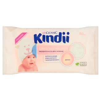 Cleanic Kindii Ultra Sensitive Fragrance Free Wipes for Sensitive Skin 60 Pieces