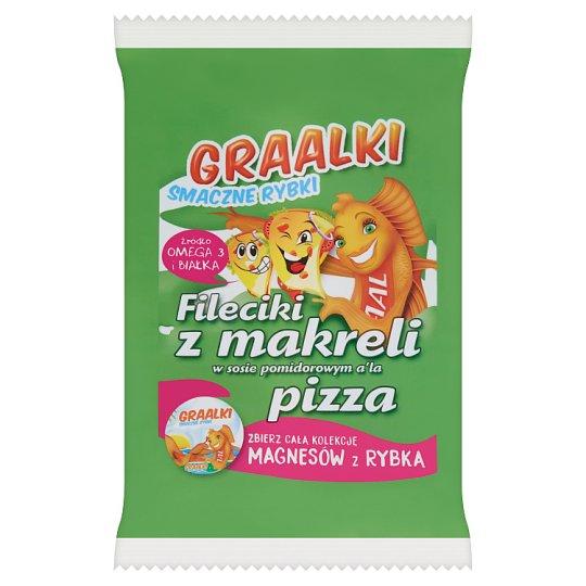 Graalki Smaczne rybki Fileciki z makreli w sosie pomidorowym a'la pizza 100 g