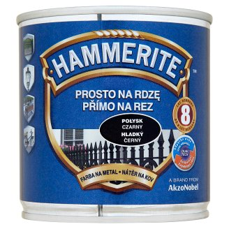 Hammerite Direct To Rust Metal Paint Smooth Black 0.25 L