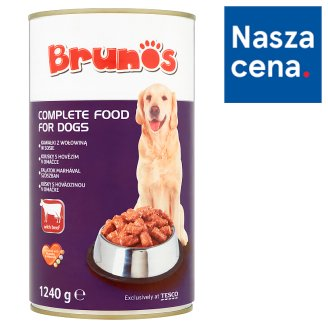 Brunos Chunks with Beef in Gravy Complete Food for Dogs 1240 g