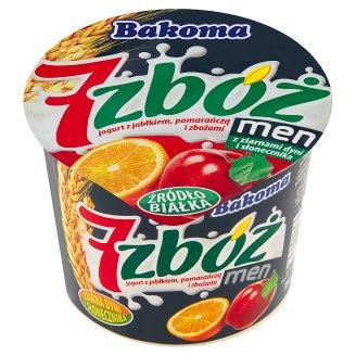 Bakoma 7 zbóż men Jogurt z jabłkiem pomarańczą i zbożami 300 g