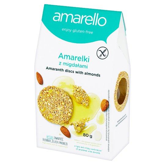 Amarello Amarelki Amaranth Discs with Almonds 80 g;