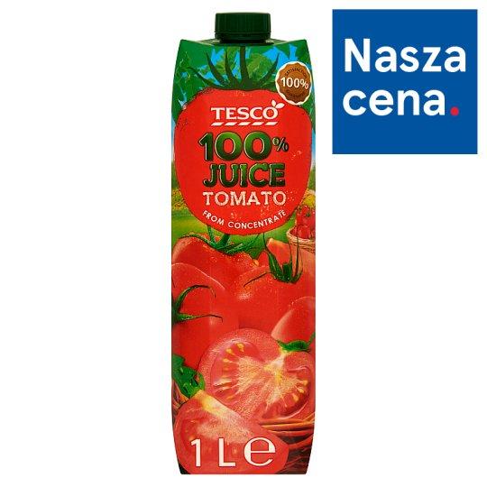 Tesco Sok 100% pomidorowy z zagęszczonego soku 1 l