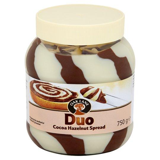 Oak Lane Duo Krem do smarowania o smaku kakaowo-waniliowym z orzechami laskowymi 750 g