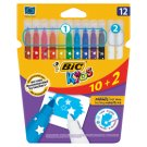 Bic Kids 10 Colourful Markers and 2 Erasers