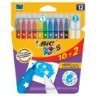 Bic Kids Flamastry 10 kolorów i wymazywacze 2 sztuki