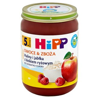 HiPP BIO Owoce & Zboża Raspberries and Apples with Rice Gruel after 5. Months Onwards 190 g