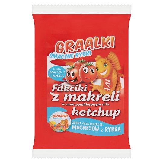 Graalki Smaczne rybki Fileciki z makreli w sosie pomidorowym a'la ketchup 100 g