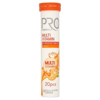 Tesco Pro Formula Multi Vitamin Tabletki musujące o smaku pomarańczowym 80 g (20 tabletek)