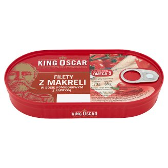 King Oscar Mackerel Fillets in Tomato Sauce with Paprika 170 g