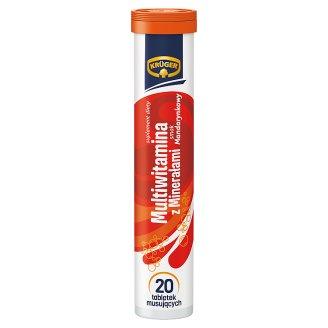 Krüger Multiwitamina z minerałami Tabletki musujące o smaku mandarynkowym 90 g (20 sztuk)