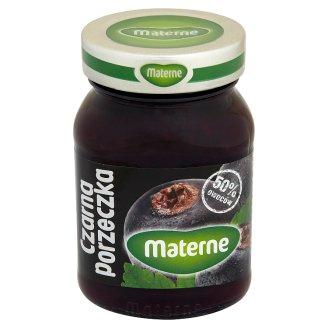 Materne Czarna porzeczka Konfitura niskosłodzona 270 g