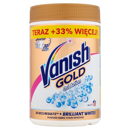 Vanish Gold Oxi Action Powder Fabric Stain Remover for Whites 625 g (20 Washes)