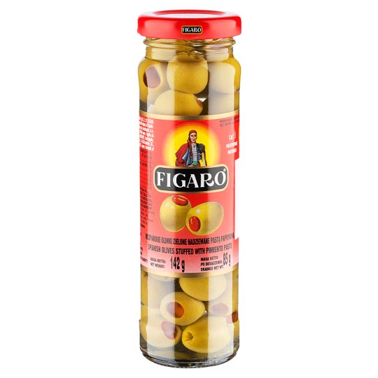 Figaro Spanish Green Olives Stuffed with Pimiento Paste 142 g