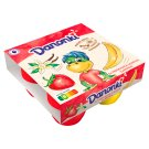 Danone Danonki Mega Strawberry-Vanilla Banana Cottage Cheese 360 g (4 Pieces)