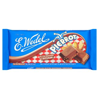 E. Wedel Pierrot Milk Filled Chocolate with Peanuts 100 g