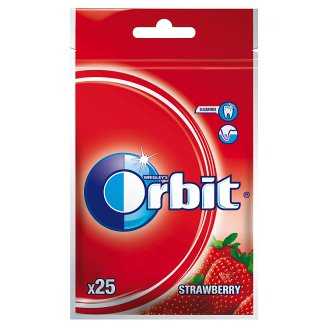 Orbit Strawberry Sugarfree Chewing Gum 35 g (25 Pieces)