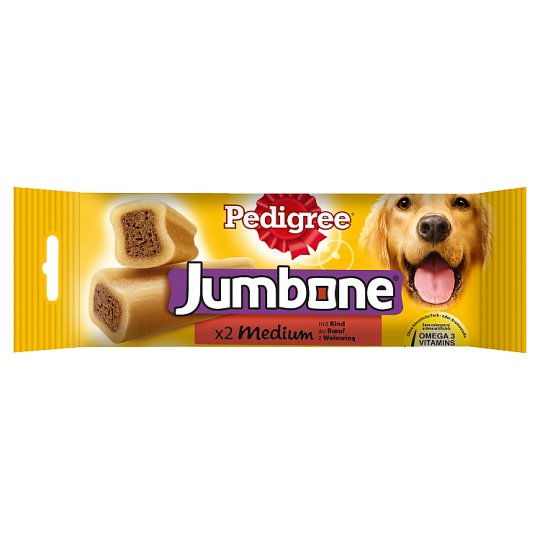 Pedigree Jumbone Medium Supplementary Pet Food with Beef 200 g (2 Pieces)