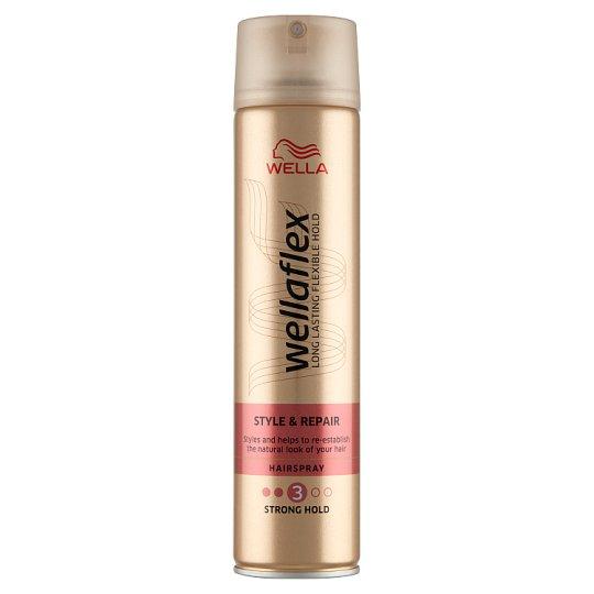 Wella Wellaflex Stylizacja i odnowa Mocno utrwalający lakier do włosów 250 ml