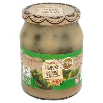 Tesco Cucumbers in Mustard Brine 680 g