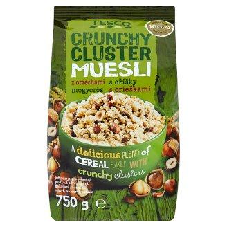 Tesco Musli chrupkie z orzechami laskowymi 750 g
