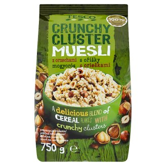 Tesco Crunchy Cluster Muesli with Hazelnuts 750 g