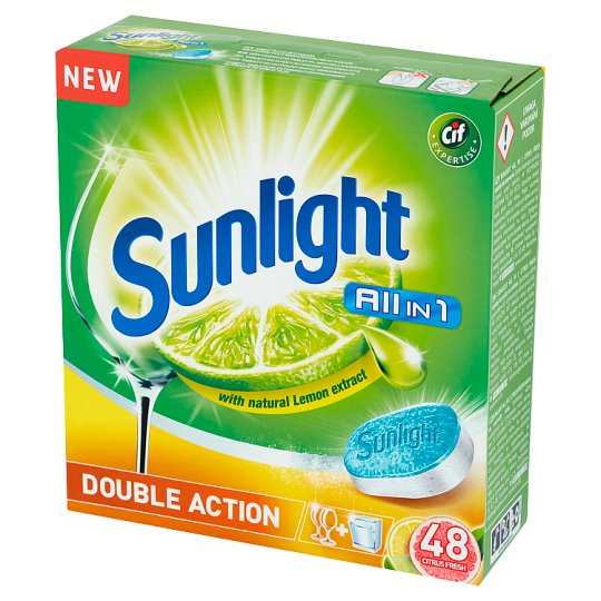 Sunlight All in 1 Citrus Fresh Dishwasher Tablets 840 g (48 Pieces)