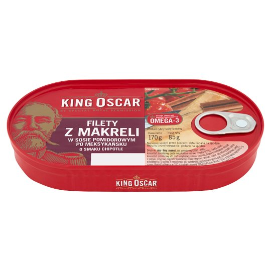 King Oscar Mackerel Fillets in Chipotle Flavour Mexican Tomato Sauce 170 g