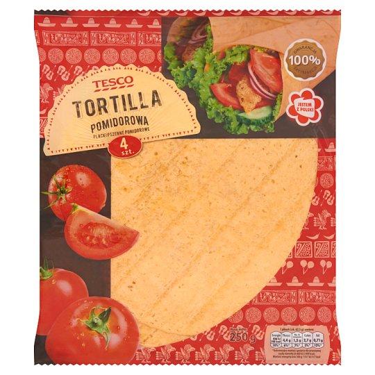 Tesco Tomato Tortillas Wraps 250 g (4 Pieces)