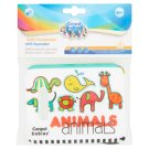 Canpol Babies Soft Playbook with Squeaker Colorful Animals 6 m+
