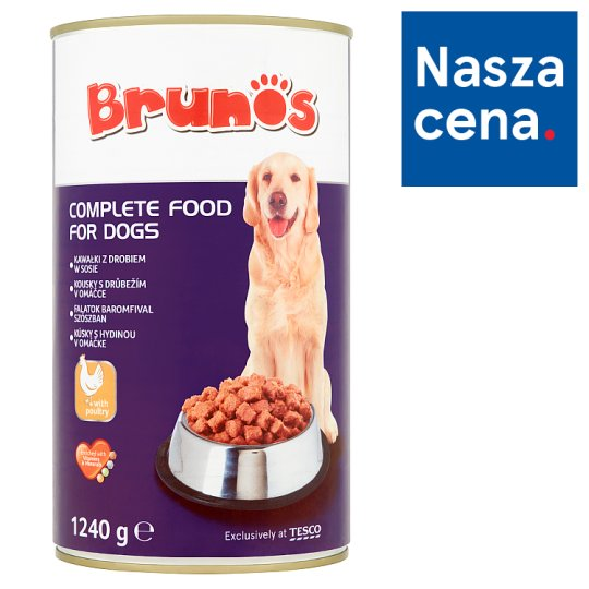 Brunos Chunks with Poultry in Gravy Complete Food for Dogs 1240 g