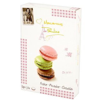 Macarons de Pauline Macaronis with Almonds Strawberry Pistachio Nuts and Chocolate 72 g