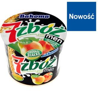 Bakoma 7 zbóż men Yoghurt with Peach Pear and Cereal 300 g