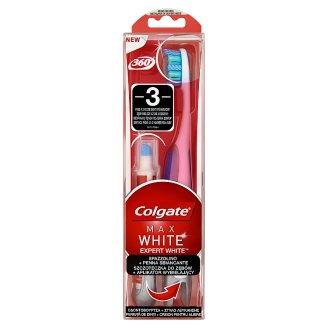 Colgate 360° Max White Expert White Medium Toothbrush + Whitening Applicator