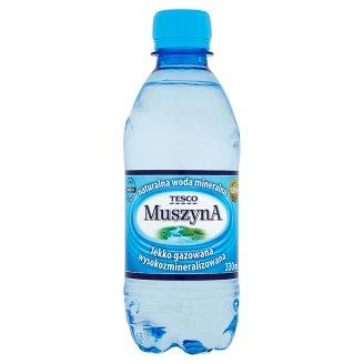 Tesco Muszyna Naturalna woda mineralna wysokozmineralizowana lekko gazowana 330 ml
